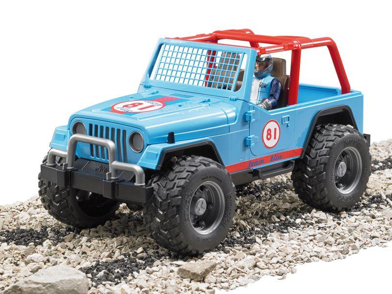 BRUDER »Jeep Cross country blau mit Rennfahrer«