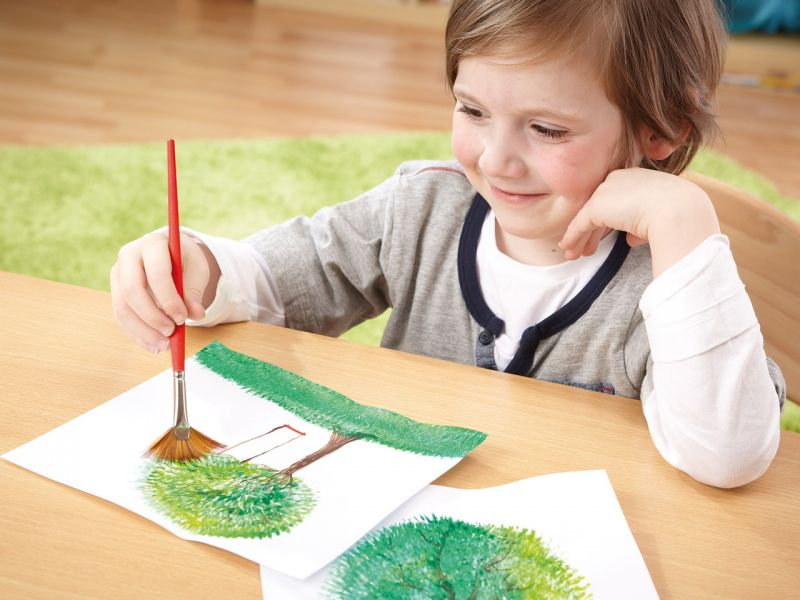 INKAcolor Fine Art Fächerpinsel, 6 Stück