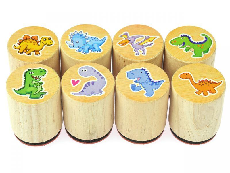 goki Stempel Dinosaurier, 8er-Set sortiert