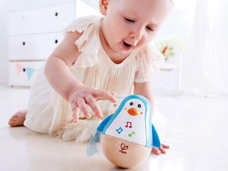 Stehauf Pinguin | Baby Lernspielzeug | Wackel Spielzeug