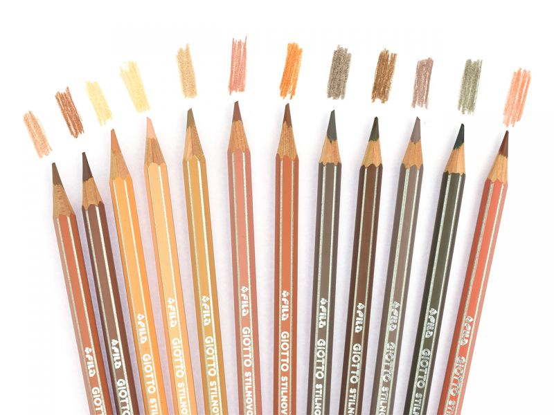 Giotto Stilnovo Skin Tones Farbstift, 12 Farben