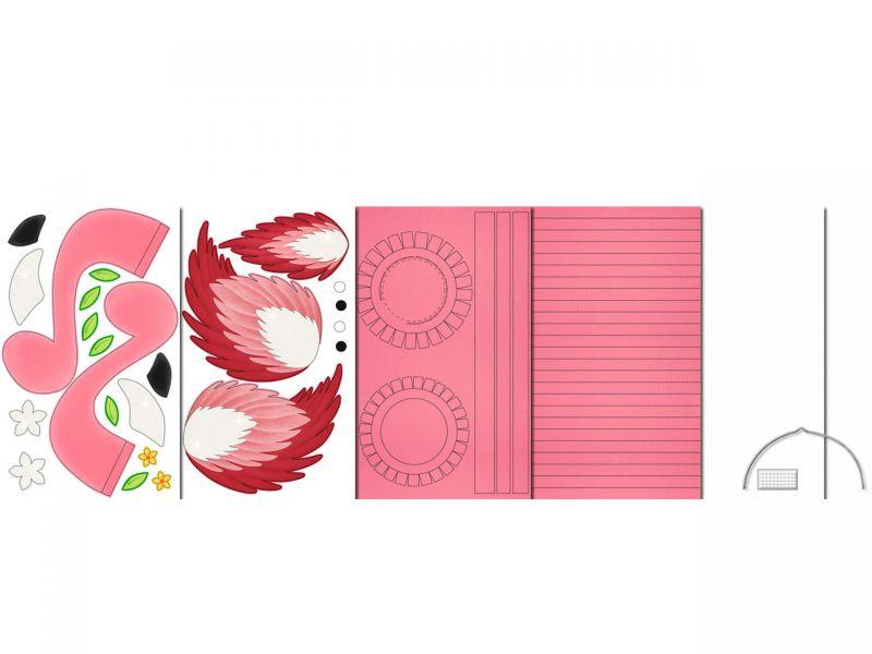 Laternen-Bastelset 3D-Streifen »Flamingo«