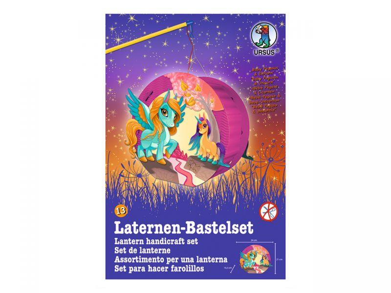 URSUS Laternen-Bastelset Easy Line »Baby Pegasus & Einhorn«