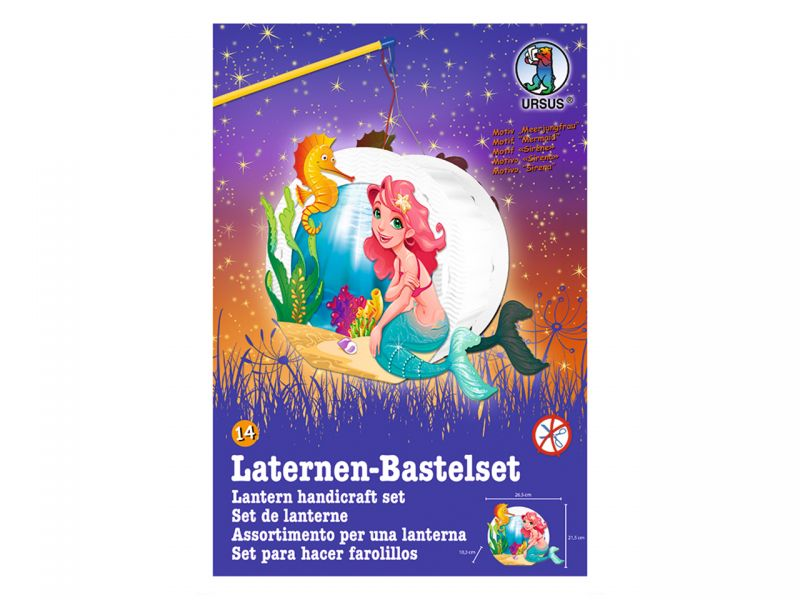 Laternen-Bastelset Easy Line »Meerjungfrau«