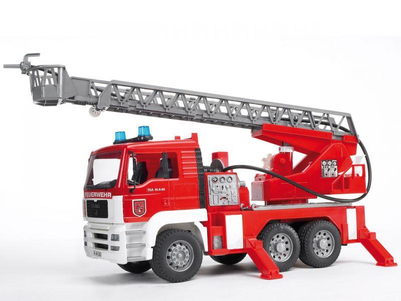 BRUDER MAN Feuerwehr mit Drehleiter