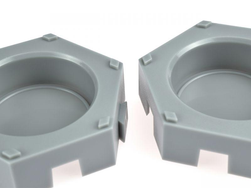 Behälter für INKAcolor Wasserfarben-Pucks, 6er-Set