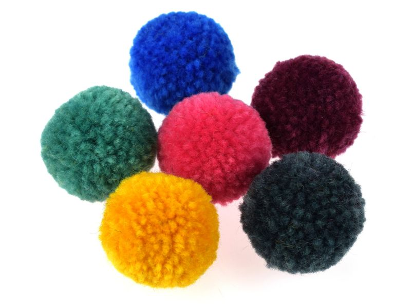 Folia Woll-Pompons Party
