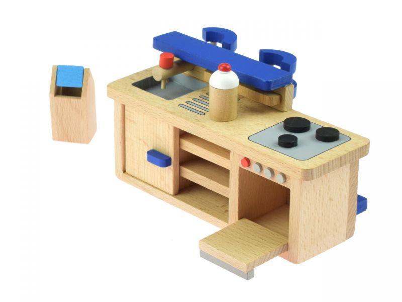 goki Puppenmöbel Küche mit Tresen | Spielheld