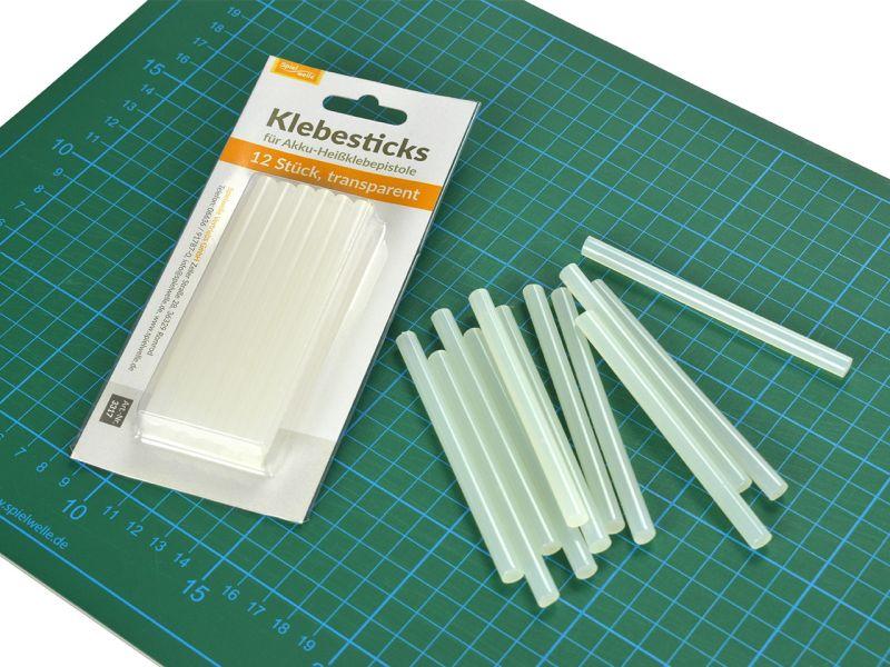 Klebesticks für Heißklebepistole transparent, 12 Stück