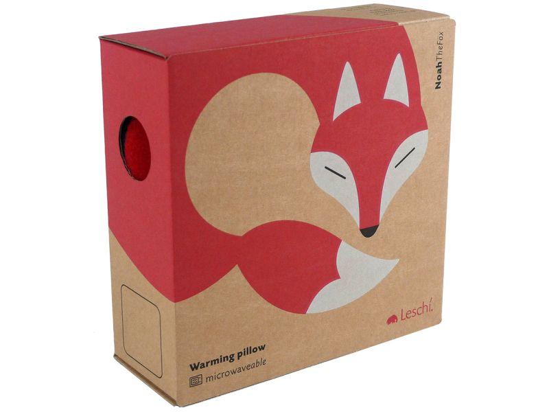 Leschi Wärmekissen »Der Fuchs Noah«, Feuer/Mitternacht