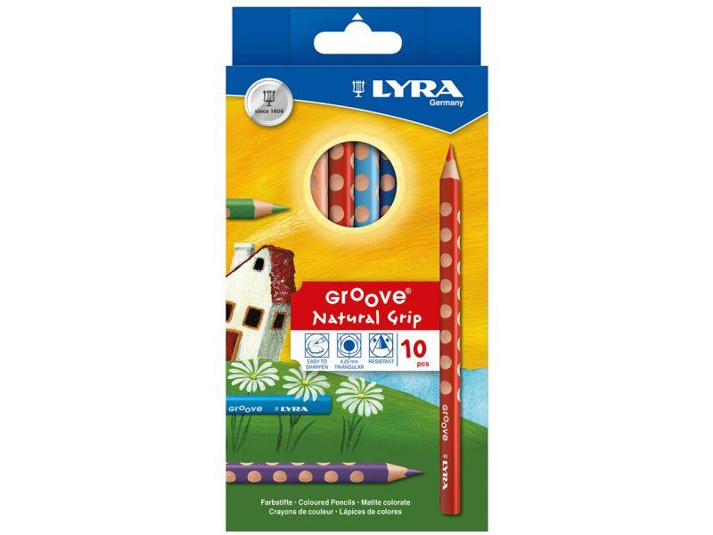 LYRA Groove Natural Grip, Buntstifte, 10er-Set