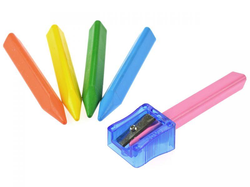 Wachsmalkreide-Spitzer, 1 Stück, Farben sortiert