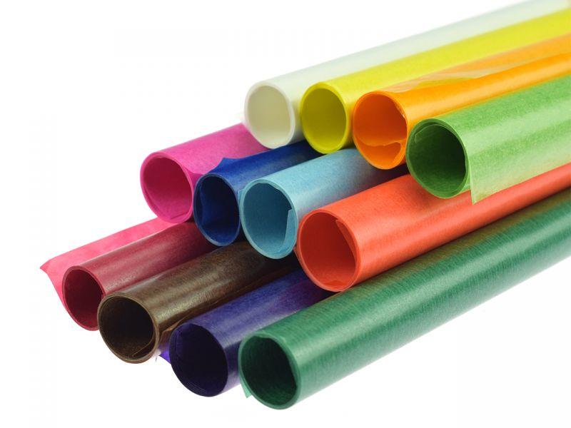 Transparentpapierrolle, einzeln, Farbe frei wählbar