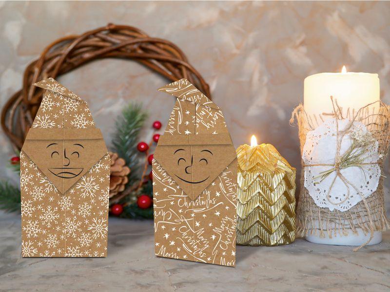 URSUS Faltblätter Kraftpapier Weihnachten, 100 Blatt