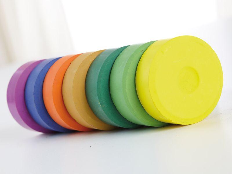 INKAcolor Wasserfarben-Pucks, 6 Stück, Farbe wählbar