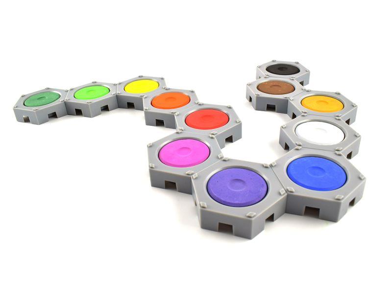 INKAcolor Wasserfarben-Pucks und Behälter im Set, 24-tlg.