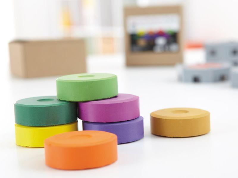 INKAcolor Wasserfarben-Pucks, 12 Farben-Set