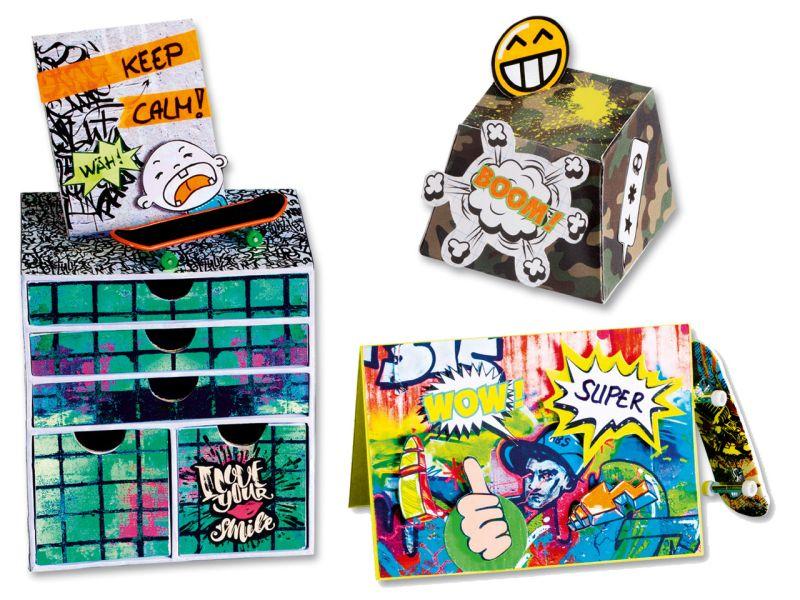 Folia Motivkarton Graffiti, 24 x 34 cm, 20 Blatt sortiert