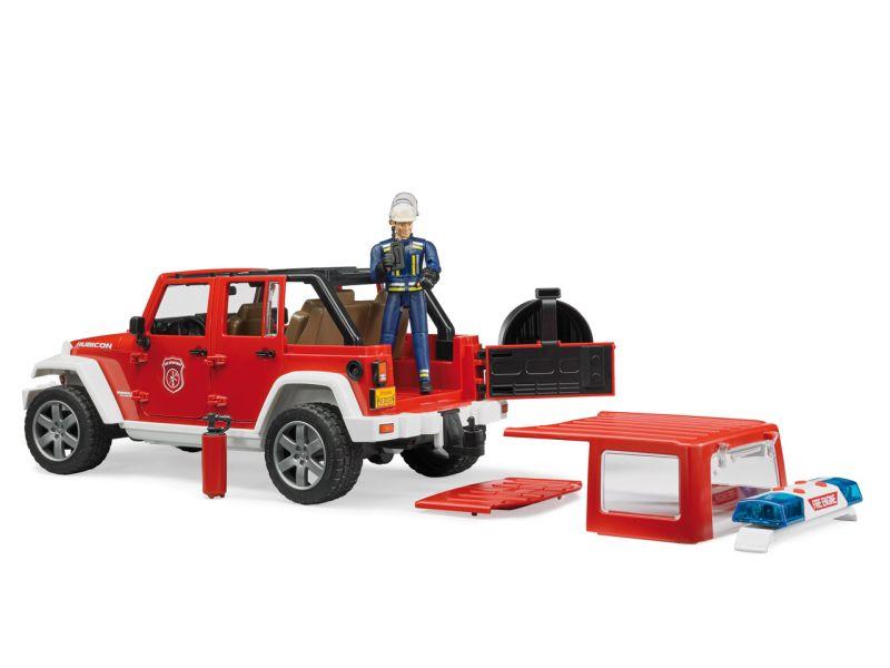 BRUDER Jeep Wrangler Feuerwehr-Einsatzfahrzeug mit Feuerwehrmann