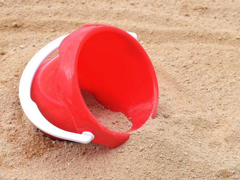 Spielheld Mini-Eimer, rot