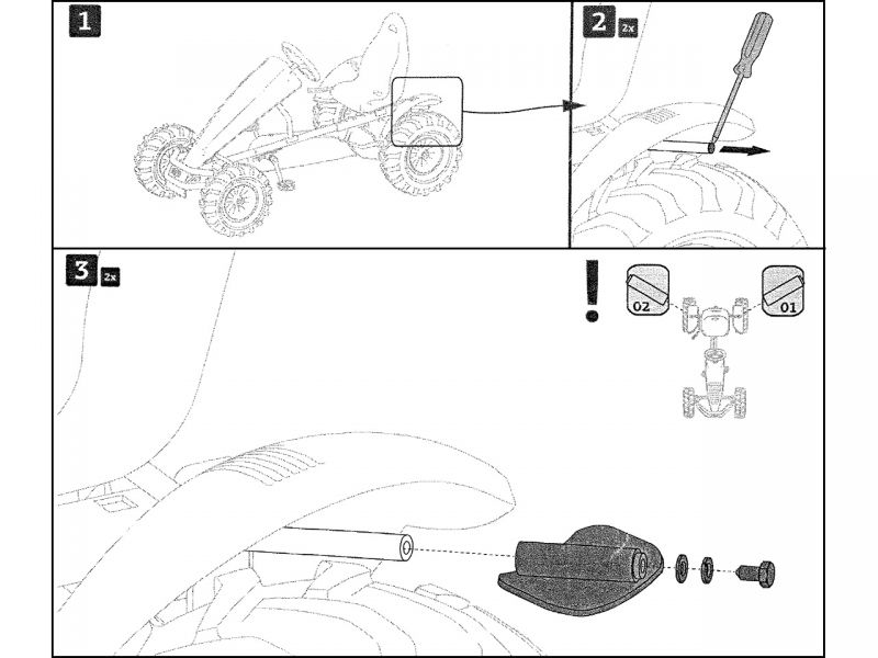 BERG Hochleistungsbremsplatten (für XL Rahmen)