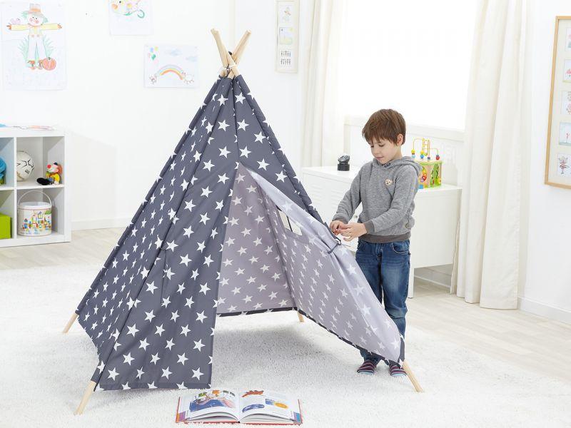 Kinder-Spielzelt Tipi Sterne
