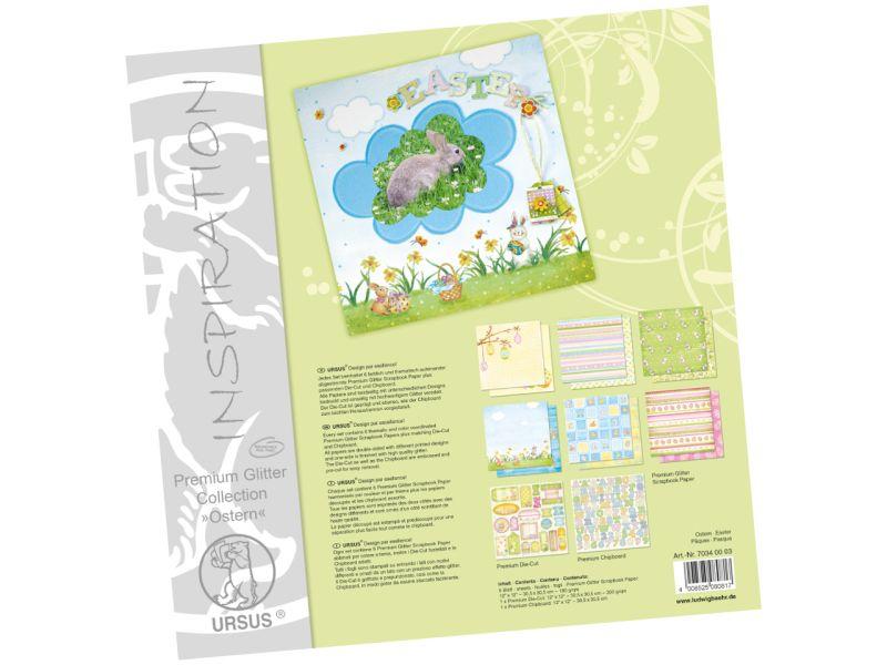 URSUS Premium Glitter Collection Ostern, 30,5 x 30,5 cm