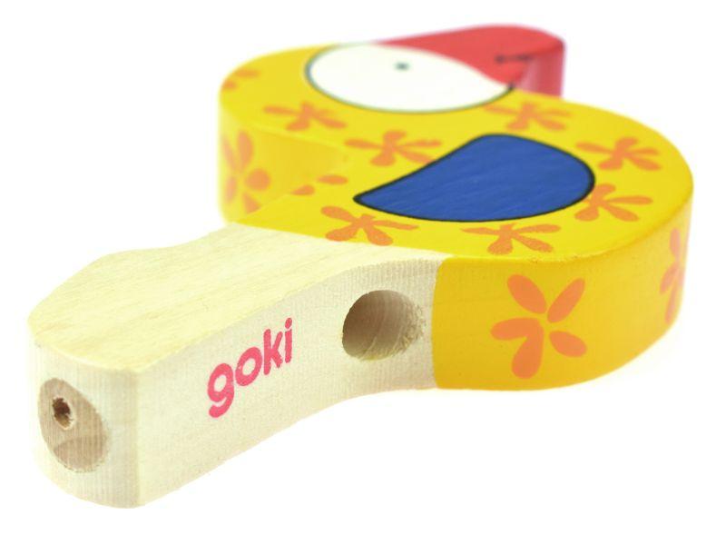 goki Bunte Vogeltröte, 1 Stück, Farben sortiert