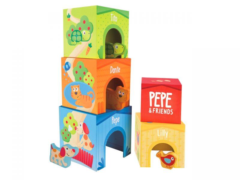 Hape Pepe & Friends Stapelturm