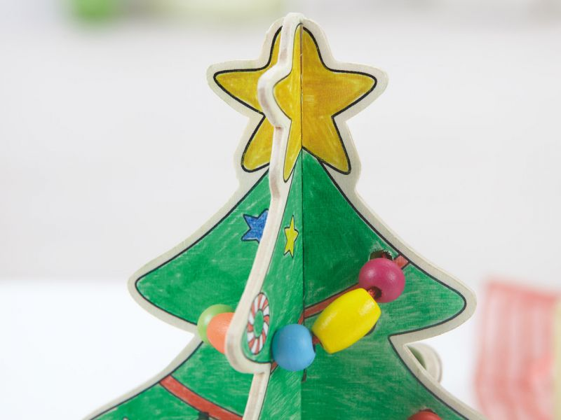 Fädelperlen-Weihnachtsbaum