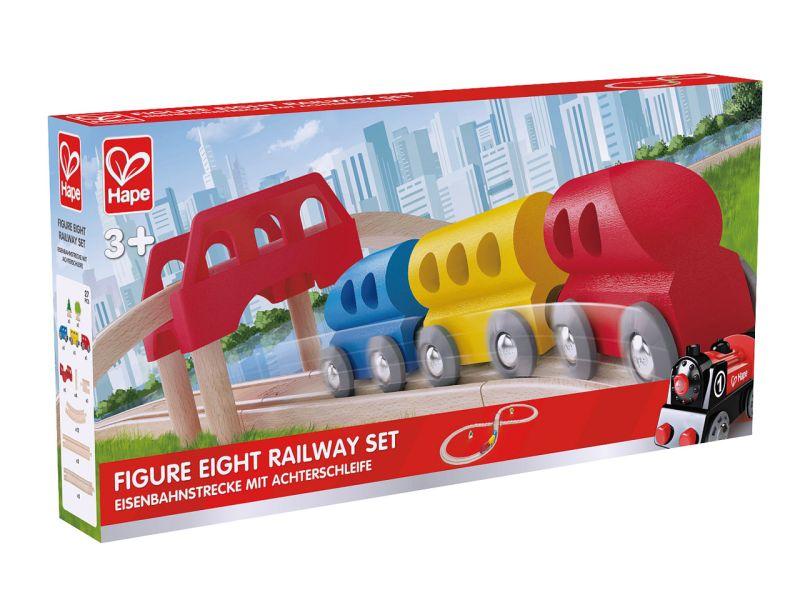 Hape Eisenbahnstrecke mit Achterschleife, 27-tlg.