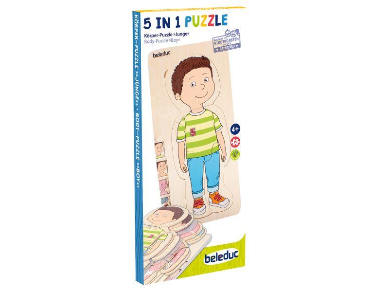 beleduc Körper-Puzzle Junge