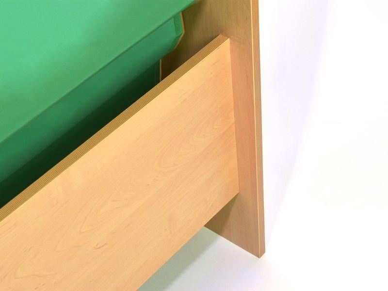 Bücherständer, hellgrün