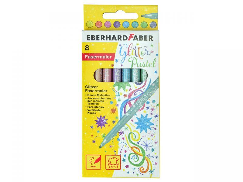 Eberhard Faber Glitzer Fasermaler Glitter Pastell