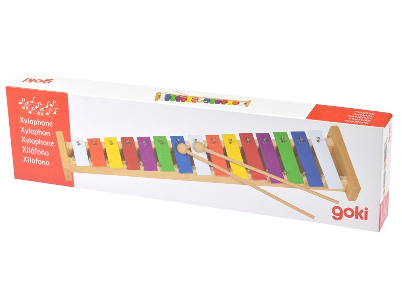 goki Kinder-Xylophon mit 15 Tönen