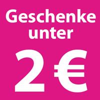 Geschenke unter 2 Euro