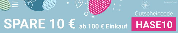 Rabattcode 10 € ab 100 € Einkauf