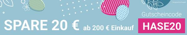 Rabattcode 20 € ab 200 € Einkauf