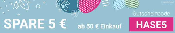 Rabattcode 5 € ab 50 € Einkauf