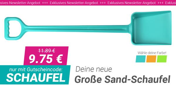 Newsletter-Angebot: Große Sand-Schaufel für 9,75 €