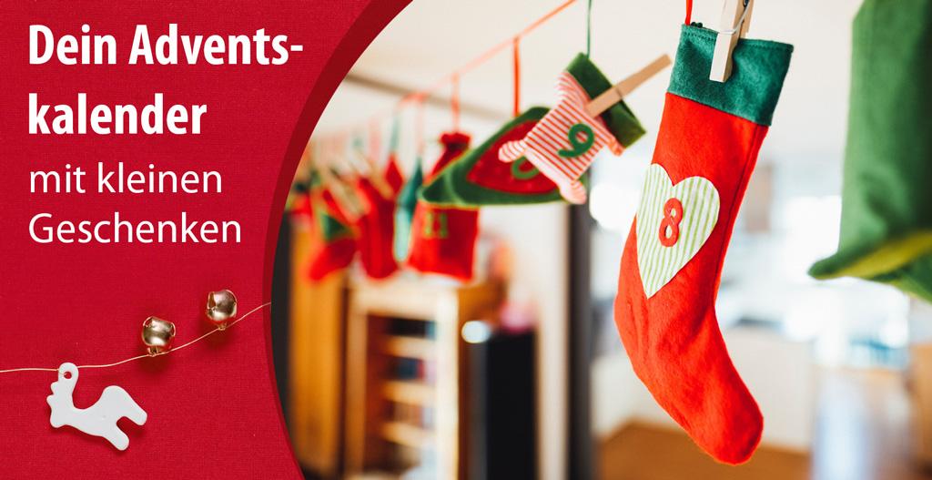Adventskalender zum Selbst-Basteln und Befüllen mit den passenden kleinen Geschenken, die Kindern und Erwachsenen eine Freude machen.